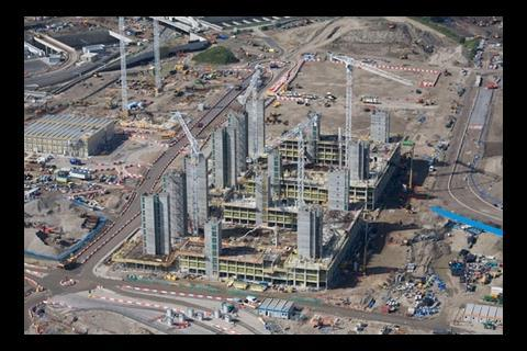 2012 Olympic Village aerial view